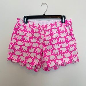 Lilly Pulitzer Buttercup shorts Tusk in sun